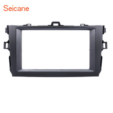 Seicane Double Din Car Radio Stereo DVD Fascia Frame Cover Trim Kit For Toyota Corolla 2008 2009 2010(China)