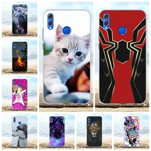 For Huawei Honor 8X Case Soft TPU Silicone For Huawei Honor View 10 Lite Cover Flowers Patterned For Huawei Honor V10 Lite Capa цена 2017