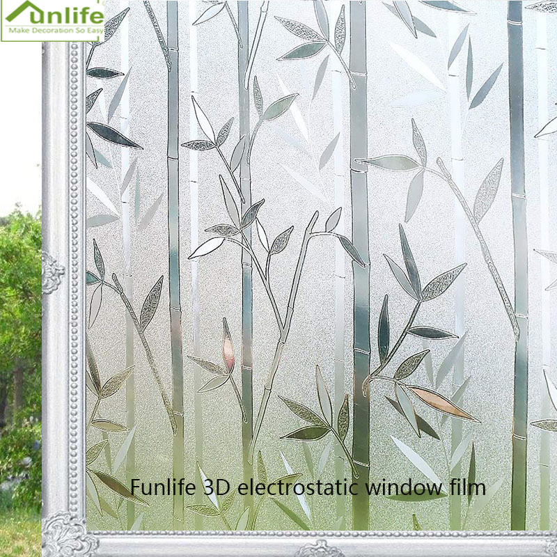 Funlife 30/45/60/75/90x200cm 3D Static Window Films Cover No-Glue Decorative Privacy Glass Sticker Home Decor