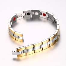 Мужские браслеты высокого качества из нержавеющей стали магниты