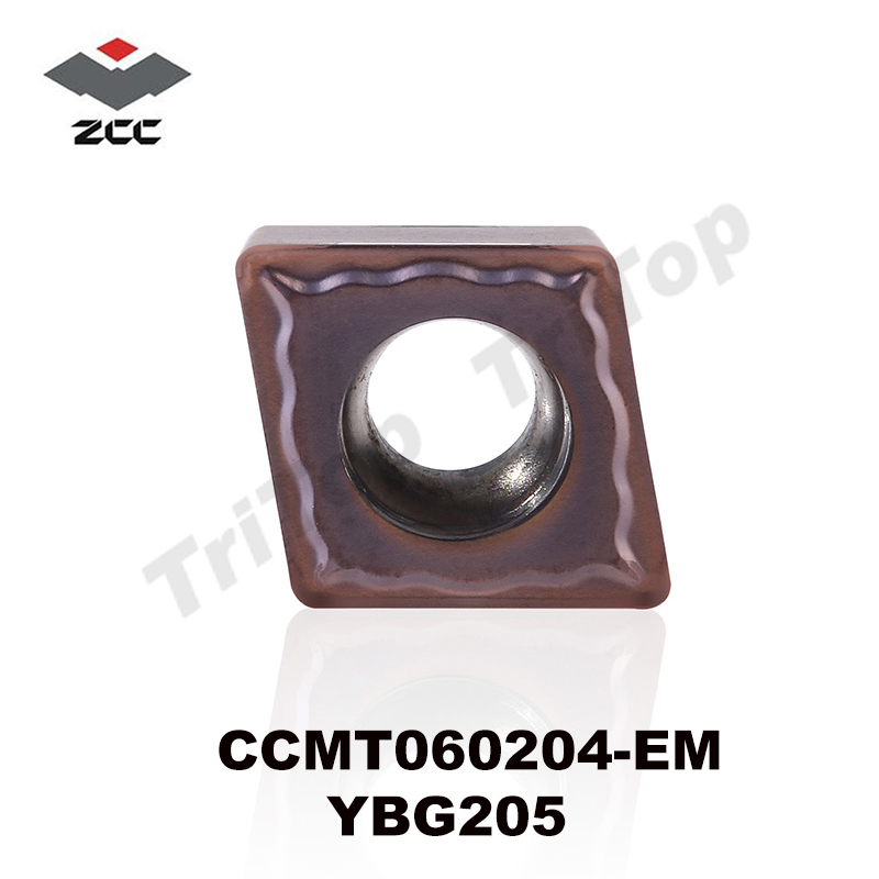 ZCCCT TOOL CCMT 060204 EM YBG205 (10pcs/box) ZCC.CT Tungsten Carbide Cutting Tools Turning Insert ZCC CCMT060204 YBG205