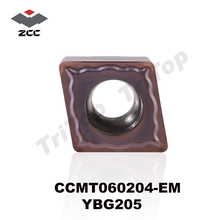 ZCCCT TOOL CCMT 060204 EM YBG205 (10pcs/box) ZCC.CT tungsten Carbide Cutting tools turning insert ZCC CCMT060204 YBG205 цена и фото