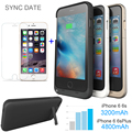 3200mAh Power bank case pack backup battery Charger Case Cover for iPhone 6 6S 6Plus 6s Plus with USB cable line