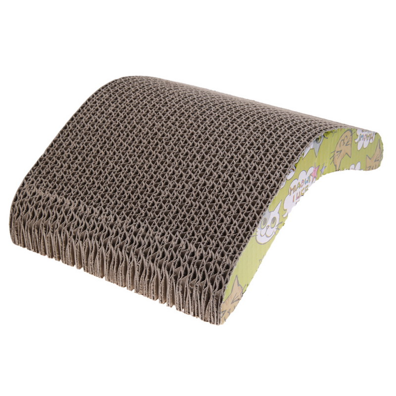 Soft Corrugated paper Durable double-sided Pet Cat Kitten Scratch Scratcher Seize Catch Board Pad Mat Catnip Bed Toy
