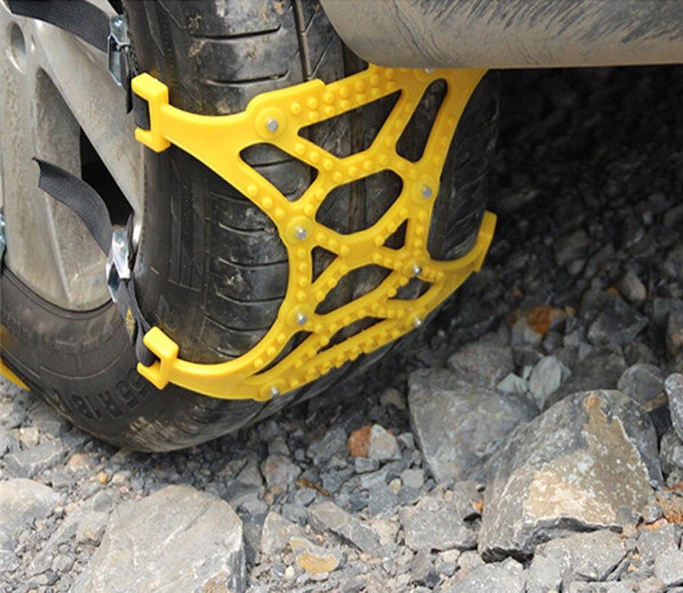3 pièces universel réglable Double boucles voiture neige pneu anti-dérapant chaîne sécurité chaînes Auto extérieur Snap dérapage roues chaînes - 4