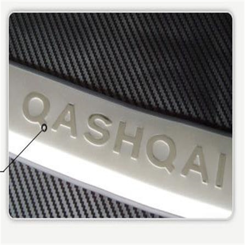 Accessoires de voiture pour Nissan Qashqai 2007-2012 2013 extérieur en acier coffre arrière pare-chocs porte seuils seuil plaque protecteur garnitures 1 pièces - 6