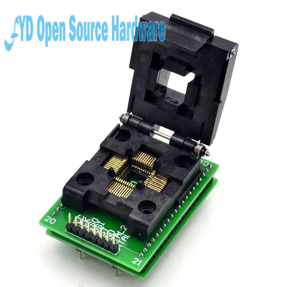 Top Qualität LQFP44 TQFP44 DIP40 an adapter QFP44 Adpater testblock für AVR ISP Interface IC adapter Programmierer steckdosen