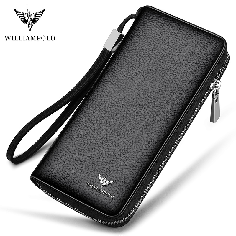 WILLIAMPOLO 2019 100% Cowhide Leather Men Long Wallet Large Compartment 35 Card Holder Wallet Portefeuille Homme Cuir PL171333WILLIAMPOLO 2019 100% Cowhide Leather Men Long Wallet Large Compartment 35 Card Holder Wallet Portefeuille Homme Cuir PL171333