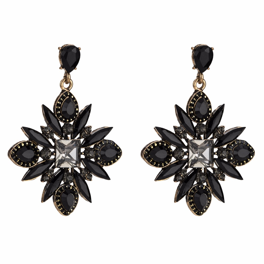 Aliexpress.com   Buy Qiaose New 3Colors Rhinestone Dangle Earrings for Women  Fashion Jewelry Boho Maxi Collection Earrings Accessories from Reliable  Drop ... 2ef9a2e4720c