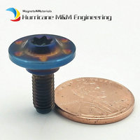 4/6pcs Shell Repair M5 x14mm Pan Head Burned Blue Color for S1000RR Motorcycle Decoration Ti Bolts Ti Screw Ti Fastener
