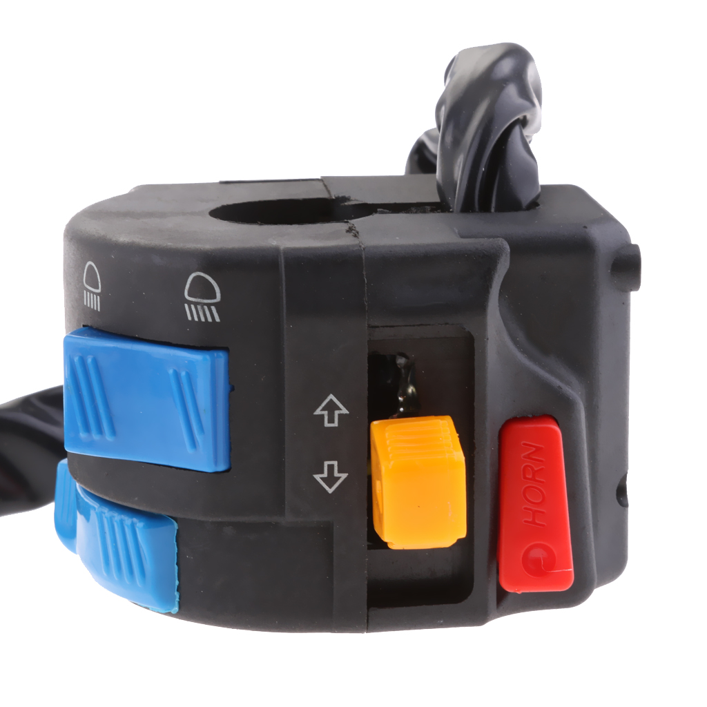 Image 4 - 1 Pcs Motorcycle Multi function Switch Push Button Headlights Turn Signal PASS Switch 12V For 22mm Handlebar ATV Motorcycle Etc-in Motorcycle Switches from Automobiles & Motorcycles