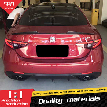 For Alfa Romeo Giulia Spoiler  Carbon Fiber Car Rear Wing Spoiler For Alfa Romeo GiuliaSpoiler