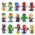 20 Estilos Superman Building Blocks Super Heroes Batman Thor Deadpool Diamante v Animación Compatible Con El regalo