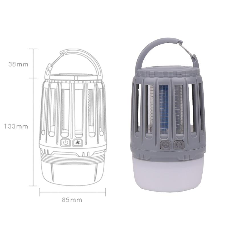Trampa antimosquitos impermeable IP67 con carga USB, lámpara de luz nocturna LED, luces de insectos y bichos, repelente de plagas, luz de Camping 2