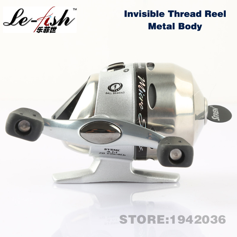 ФОТО  New Arrival Fishing Reel Hidden Lines Whole Sealing Global Wheel Free Shipping Wholesale Deft Spherical Right Hand Ice Reel
