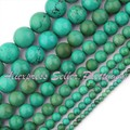 "Round Old Turquoise Natural Stone Beads Strand 15"" 4,6,8,10,12,16,20mm For DIY Necklace Bracelet Jewelry Making,Free Shipping"