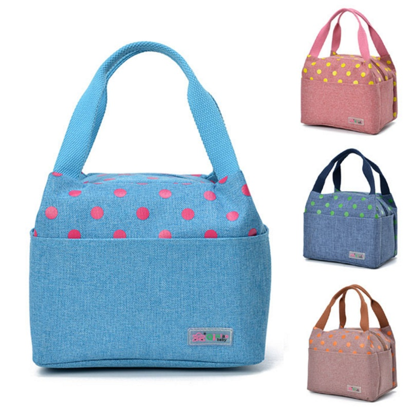 Waterproof Oxford Mummy Insulation Lunch Bag Portable Diaper Bag Carrying Food Nursing Bottle Picnic Lunch Tote Aluminum Thermal