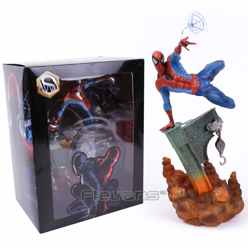 Sideshow  Spiderman The Amazing Spider-man PVC Figure Collectible Model Toy 2 Colors 29cm neca planet of the apes gorilla soldier pvc action figure collectible toy 8 20cm
