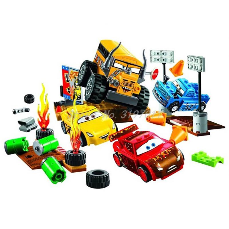 цена на Cars Moives Juniors Thunder Hollow Crazy 8 Race 191pcs Bela 10687 Model Building Block Sets Brick Kid Toys Compatible with 10744