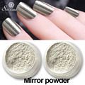 Shinning Gold Sliver Glitter Powder 1g/Box with 2 Brushes for Nail Art DIY Nail Gel Polish Pigment Glitters Mirror powder