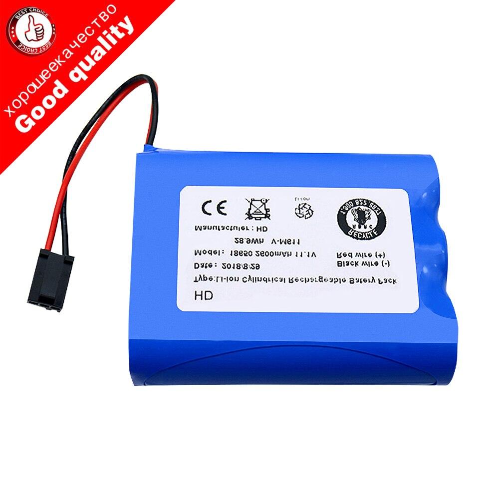 Bateria Li-Ion 11.1 v 2600 mah li-ion bateria recarregável para PUPPYOO V-M611A V-M611 M611 robô aspirador de pó robô esfregar