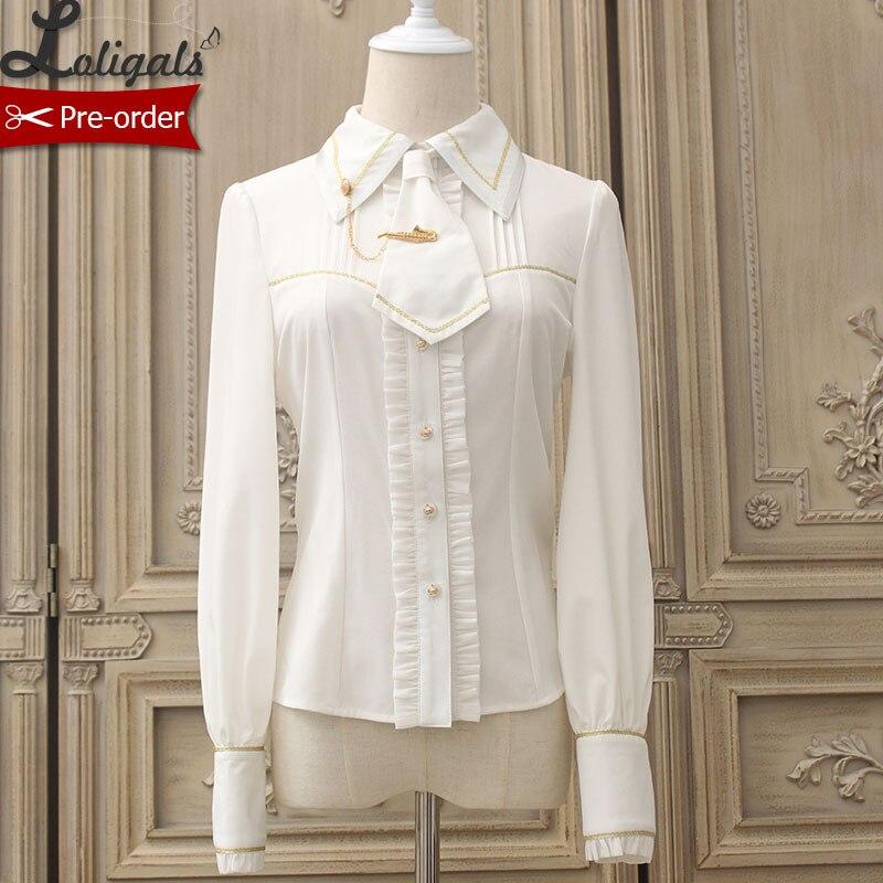 Royal Cat ~ chemise Lolita femme manches longues w. Cravate chaîne mousseline Blouse par Alice fille ~ pré-commande