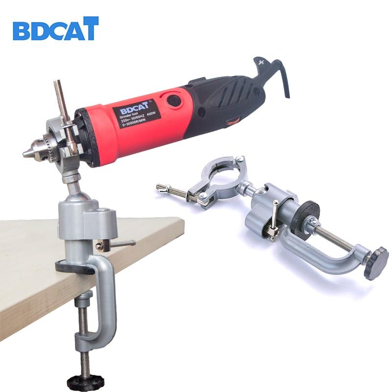 BDCAT amoladora Dremel accesorios taladro eléctrico soporte utilizado para Dremel Mini taladro multifuncional amoladora