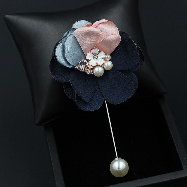 Brooch Pin Pearls Church Fashion Gifts Ideas Birthday Gifts Anniversary Gifts Fabric Flower Brooch Pin Holiday Gifts