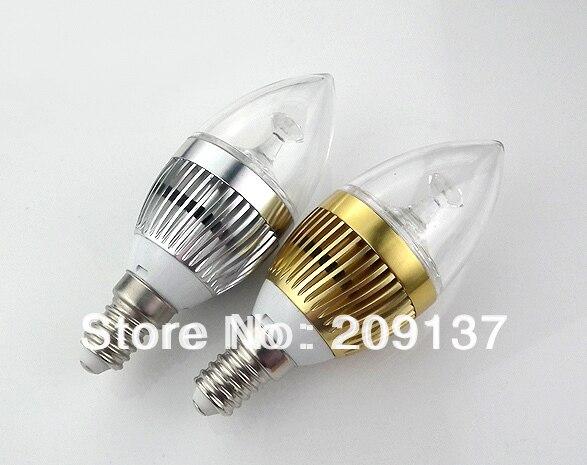 Free shipping 10pcs lot E14 E12 9W Candle led Bulb Lamp AC DC 12V Warm White