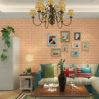 60x60 cm PE Foam 3D Wall Stickers Home Improvement Rental housing necessary Wall Decoration Wall Brick Wall Living Room 4