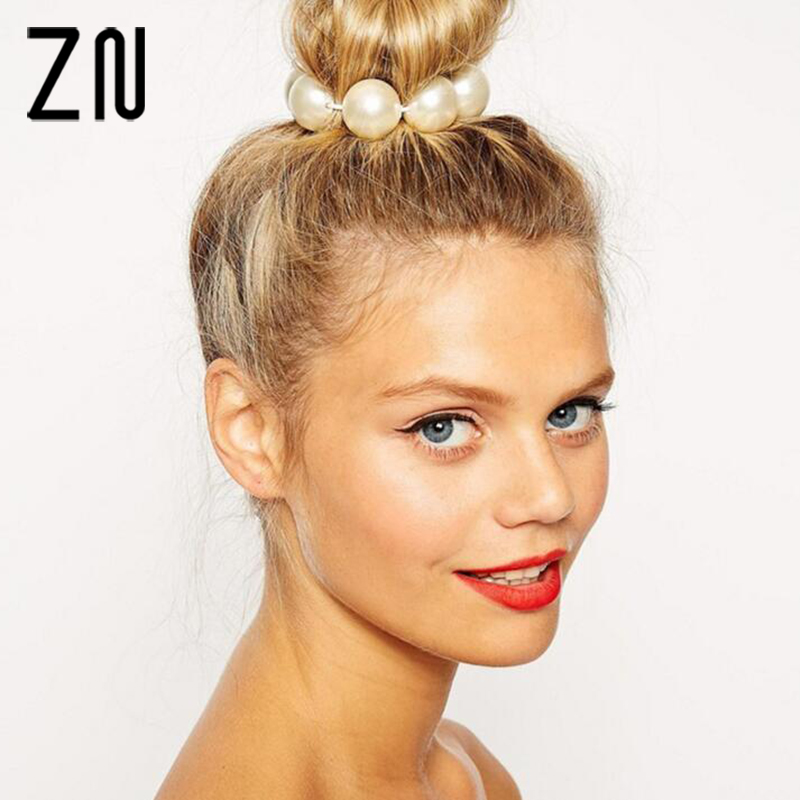 ZN New Arrival Hair Jewelry Fashion Colorful Simulated Pearl Women Accessories for Fashion Lady 4 Color
