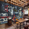 Beibehang Custom 3d Wallpaper Retro Nostalgic Old Sound Recorder Radio Hotel Restaurant Wallpaper Wall Decoration
