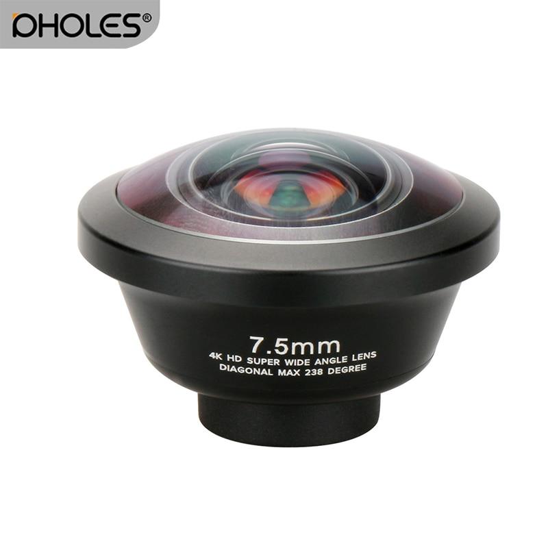 Pholes 238 Degree Fisheye HD Lens 0.2X Wide Angle Lens for i