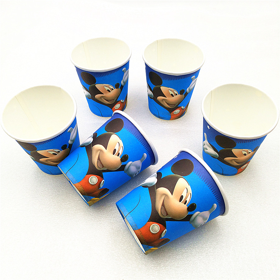 Mickey Mouse Kids Birthday Party Supplies Cartoon Theme Tableware Decor Festival Party Decoration Favors For Boys And Girls Hot in Disposable Party Tableware from Home Garden