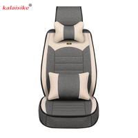 Kalaisike Flax Universal Car Seat covers for Fiat all models 500 palio albea Bravo Freemont car styling accessories auto Cushion