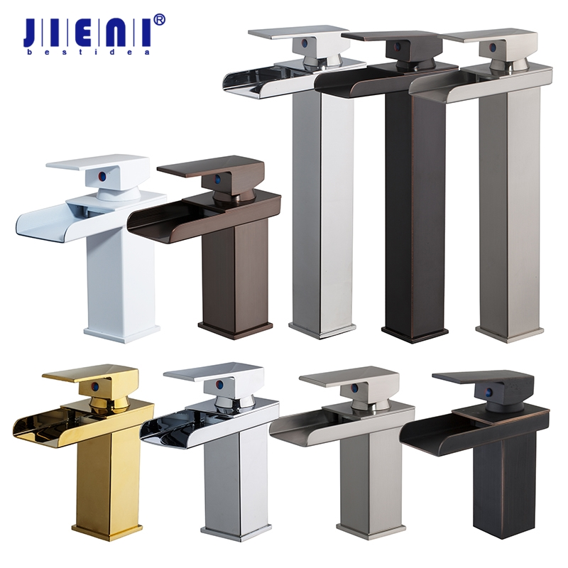 Chrome Polished Bathroom Basin Faucet Tap Mixer Black White Painting Waterfall Chrome Brass Water Wash Basin Mixer Tap Faucet стоимость