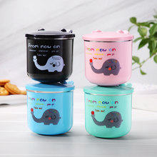250ML Kids Cup Baby Training Stainless Steel Mug Baby Feeding Cup Toddler Infant Water Learning Bottle With Handle and Cover(China)