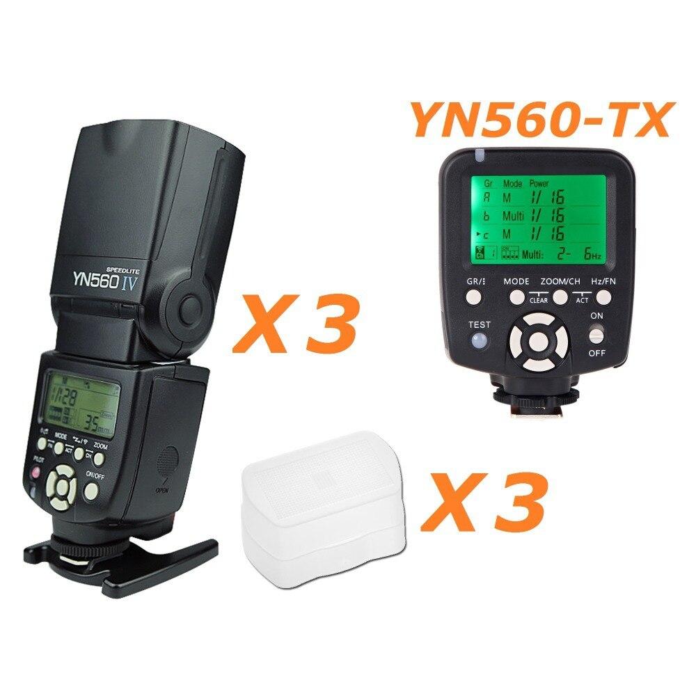 3 шт. Yongnuo YN 560IV 560IV вспышка светильник Speedlite скоростной светильник + YN560 TX беспроводной контроллер вспышки для Nikon D100 D90 D80 D70s