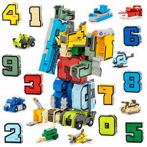 Image 2 - 10 Chiếc Biến Đổi Số Robot Biến Dạng Nhân Vật Brinquedos Thành Phố Tự Sáng Tạo Xây Dựng Khối Lắp Ráp Bạn Bè Đồ Chơi Trẻ Em