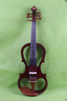 one 6 string fret 4/4 Electric Violin Solid wood 20 28# brown color