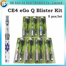 Эго Q Волдырь Комплект электронной сигареты CE4 Электронная Сигарета комплект эго королева 1100 мАч батареи CE4 распылитель электронная сигарета эго Q 1100 мАч сигареты комплект