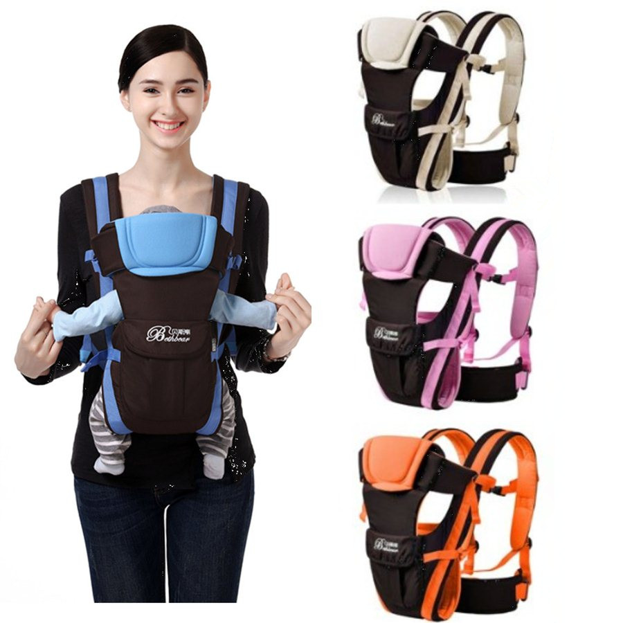 Ergonomic Baby Carriers Backpacks Multifunctional Breathable Newborn Sling Adjustable Baby Carrier Hipseat Infant Kangaroo