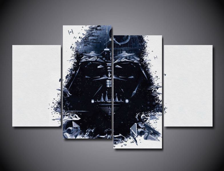Framed Printed Star Wars Group Painting on canvas room decoration print poster picture c ...
