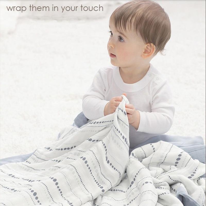 μωρό Μαλλί περιτύλιγμα Βαμβάκι Μωβ μουλίνα Κουβέρτες Νεογέννητο 100% μπαλόνι μουσελίνα πάπλωμα Νεογέννητα Swaddle Κουβέρτα