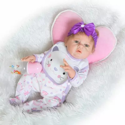 23 Inch Soft Full silicone body reborn babies Girl dolls Can Bath Lifelike Vinyl Newborn Bebe Alive Brinquedos Reborn Bonecas 22 full body silicone vinyl boy girl dolls reborn fake reborn babies dolls for children gift can enter water bebe alive boneca