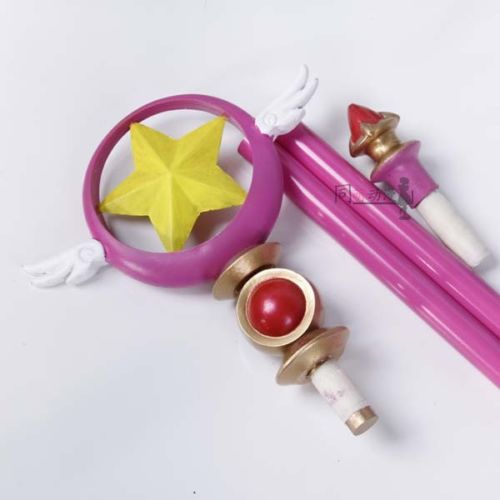 CARDCAPTOR SAKURA Card Captor Sakura Birdhead Star Magic Stick Wand Staves Cosplay Accessorie Porp