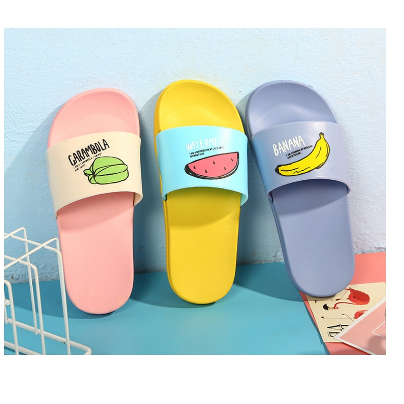 Men's Shoes New Men Slippers Fashion Summer Lovely Ladies Casual Slip On Fruit Jelly Beach Flip Flops Slides Woman Skid Indoor Shoes Shoes