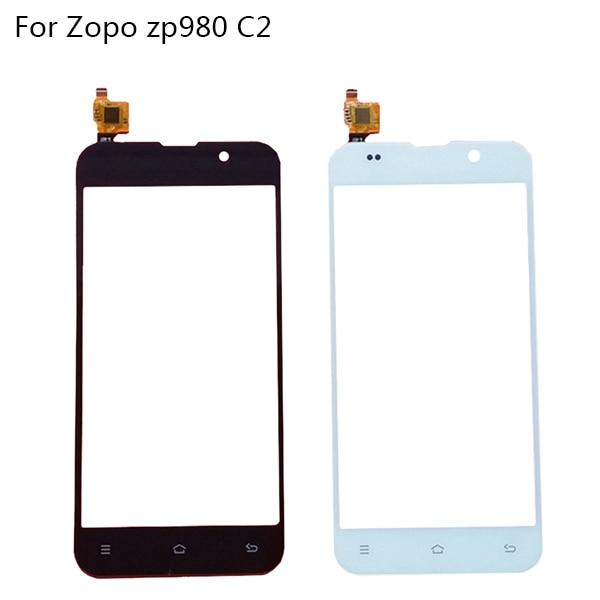 Janela de tela de Toque Original Preto Para ZOPO ZP980 zp980 + C2 C3 Digitador Sensor de Vidro Do Painel de Toque Touchscreen Tela Capacitiva