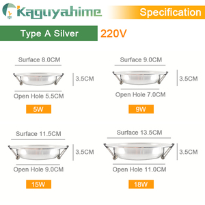 Image 3 - Kaguyahime LED Downlight 220V 240V LED Ceiling Lamp 18W 15W 12W 9W 5W 3W Gold/Silver/White Round Recessed Light LED Spotlight