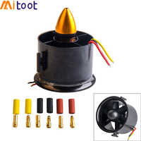 QX-MOTOR 70mm 6 Blades Ducted Fan EDF With 2822 3000KV Motor Brushless For RC Airplane Model Parts